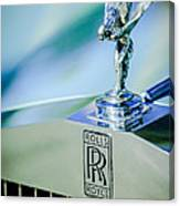 Rolls-royce Hood Ornament -782c Canvas Print