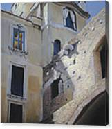 Roman Apartments - Pastel Canvas Print