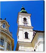 Roman Catholic Cathedral-sibiu Canvas Print