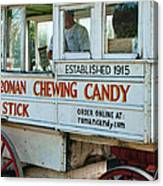 Roman Chewing Candy Wagon In New Orleans Canvas Print