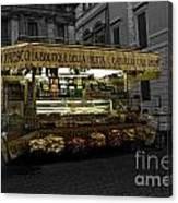 Roman Confectionary Cart Canvas Print