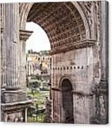 Roman Forum Arch Canvas Print