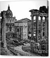 Roman Forum At Sunrise Canvas Print