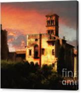 Roman Forum At Sunset Canvas Print