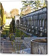 Roman Gardens In Fall Canvas Print