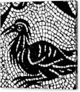 Roman Mosaic Bird Canvas Print