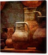 Roman Pots Canvas Print