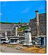 Roman Theatre In Pergamum-turkey  Canvas Print