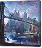 Romance By East River II Canvas Print