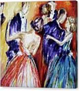 Dance In Romance Canvas Print