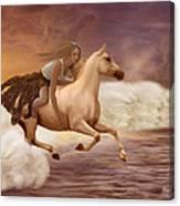 Romance In Her Dream Canvas Print