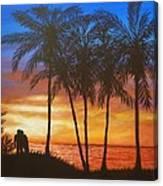 Romance In Paradise Canvas Print