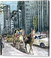 New York 5th Avenue Ride - Fine Art Canvas Print