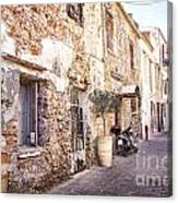 Romantic Chania Street Canvas Print