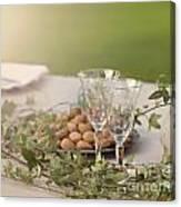 Romantic Garden Table Setting Canvas Print
