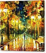 Romantic Lights - Palette Knife Oil Painting On Canvas By Leonid Afremov Canvas Print