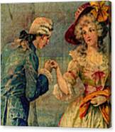 Romantic Meeting Canvas Print