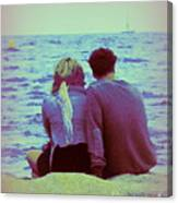 Romantic Seaside Moment Canvas Print