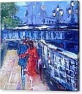 Romantic Stroll Dublin Ireland Canvas Print