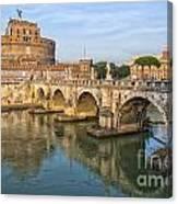 Rome Castel Sant Angelo 01 Canvas Print