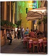 Rome Italy Accordion Serenade Canvas Print