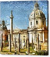 Rome Italy - Drawing Canvas Print