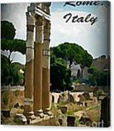 Rome Italy Poster Canvas Print
