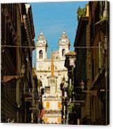 Rome, Italy. View Along Via Dei Canvas Print
