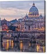 Rome Saint Peters Basilica 01 Canvas Print