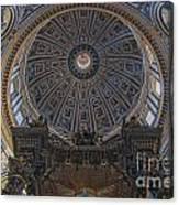 Rome Saint Peters Basilica Interior 01 Canvas Print