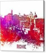 Rome Skyline Canvas Print