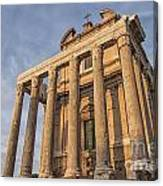 Rome Temple Of Antoninus And Faustina 01 Canvas Print