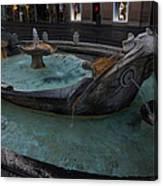Rome's Fabulous Fountains - Fontana Della Barcaccia - Spanish Steps  Canvas Print