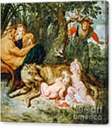 Romulus And Remus Canvas Print