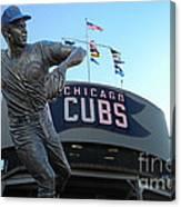Ron Santo Chicago Cubs Statue Canvas Print