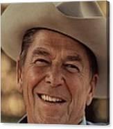 Ronald Reagan In 1976 At His Home At Rancho Del Cielo Canvas Print