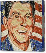Ronald Wilson Reagan Mosaic Canvas Print
