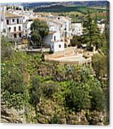 Ronda Houses On A Rock Canvas Print
