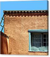 Roof Corner With Ladder And Window Canvas Print