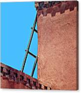 Roof Corner With Ladder Canvas Print