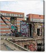 Roof Of The Alte Eisfabrik Ruin In Berlin Canvas Print