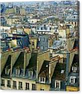 Roof Tops And Eiffel Tower Canvas Print