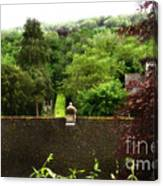 Roof Tops In Countryside Scenery With Trees - Peak District - England Canvas Print
