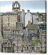 Roofs Of Edinburgh  Canvas Print
