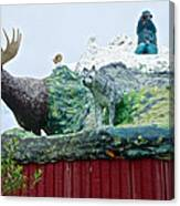 Rooftop Landmark Feature Of Haines Junction-yk Canvas Print