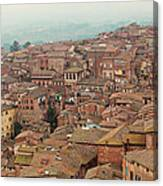 Rooftop View Of Siena Italy Canvas Print