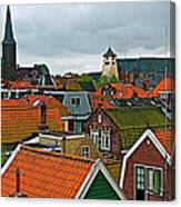 Rooftops From Our Host's Apartment In Enkhuizen-netherlands Canvas Print