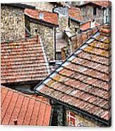 Rooftops Of Apricale.italy Canvas Print
