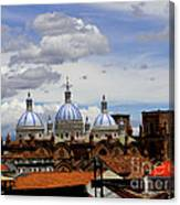 Rooftops Of Cuenca Canvas Print