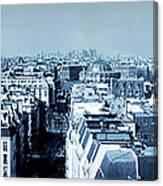 Rooftops Of Paris - Selenium Treatment Canvas Print